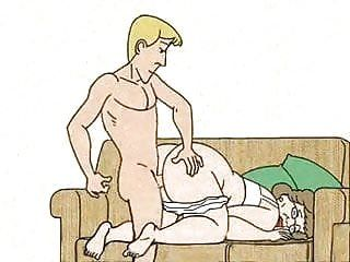 Lad stuffed granny in the dog-style and cums animation
