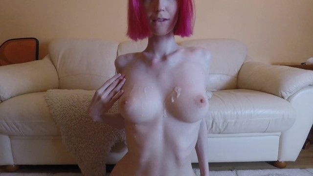 Hawt dilettante redhead with large love muffins getting fucked, cum on boobs 4k 60fps