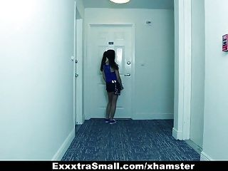 Exxxtrasmall - pigtailed legal age teenager acquires taut cunt stretched