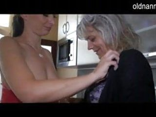 See lewd older lesbo sex with a younger angel