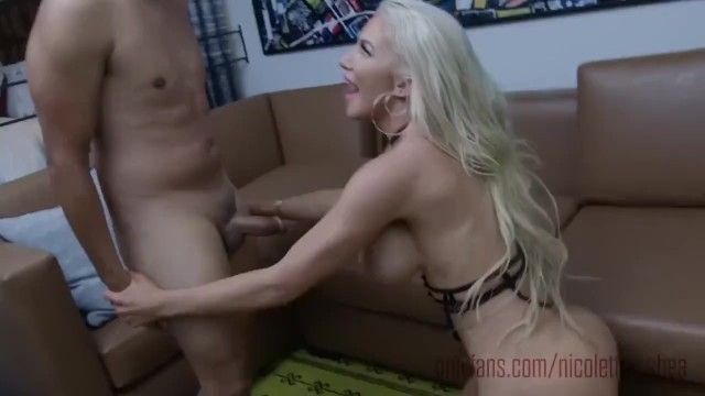 Nicolette shea hottie gold receives creampied after a coarse pumping