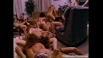 Sorority lesbian babes in giant sex fuckfest