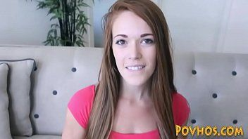 Redheaded legal age teenager pov squirting during the time that riding wang in hd