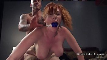 Gagged massive love bubbles redhead anal pumped