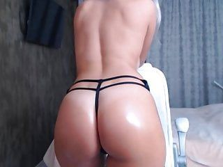 Hot stripped gal on webcam oily naked body