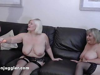 Massive bumpers aunties using a youthful bbw lesbo for sex