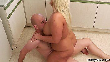 Enchanting blond plumper rides boss schlong