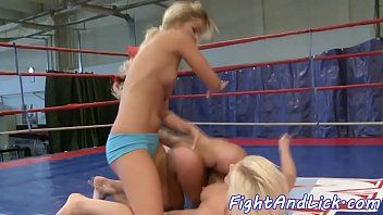 Pussylicking honeys have a fun wrestling