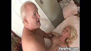 Youthful slut gives massage and slit to old boy